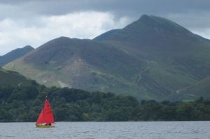 Sailing boat on Derwentwater