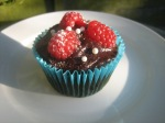 Chocolate Summer Fruit Cupcake