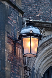 Old lantern at the street of Cambridge